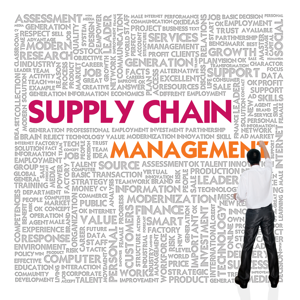Supply Chain Management Icon Supply Chain Management Words